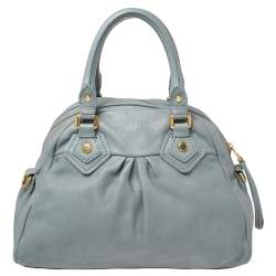 Marc by Marc Jacobs Grey Leather Classic Q Baby Groovee Satchel