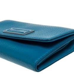 Marc by Marc Jacobs Blue Leather Flap Continental Wallet