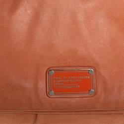 Marc by Marc Jacobs Orange Leather Dr. Q Magazine Clutch