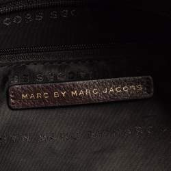 Marc by Marc Jacobs Plum Leather Front Pocket Satchel