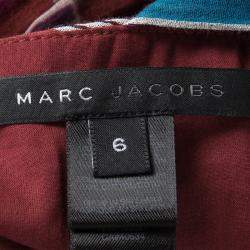 Marc Jacobs Multicolor Geometric Print Sleeveless Tie Detail Cotton Top M