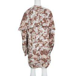 Marc Jacobs Floral Printed Long Sleeve V-Neck Tunic and Scarf Set M