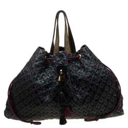 Marc Jacobs Tri Color Python and Leather Memphis Drawstring Tote