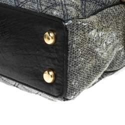 Marc Jacobs Black/Blue Quilted Leather Venetia Satchel