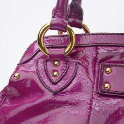 Marc Jacobs Alyona Purple Patent Leather Satchel