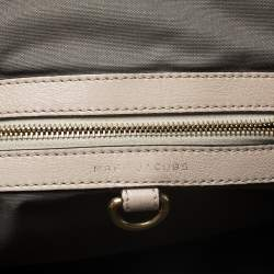 Marc Jacobs Beige Leather Mini Stam Satchel