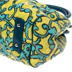 Marc Jacobs Multicolor Printed Quilted Leather Stam Satchel