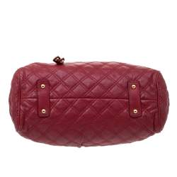Marc Jacobs Red Quilted Leather Stam Satchel