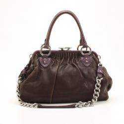 Marc Jacobs Brown and Purple Python Trim Stam