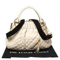 Marc Jacobs Cream Quilted Leather Cecilia Satchel