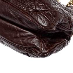 Marc Jacobs Dark Brown Quilted Leather Capra Satchel