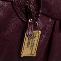 Marc by Marc Jacobs Burgundy Leather Classic Q Groove Satchel