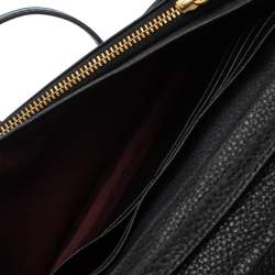 Marc Jacobs Black Leather Recruit Wallet on Strap