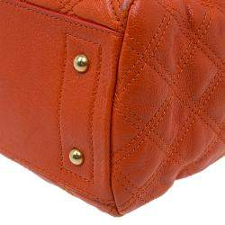 Marc Jacobs Orange Quilted Leather Rudi Satchel