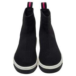 Marc Jacobs Black Knit Fabric Dart Sock Sneakers Size 41