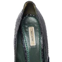 Marc Jacobs Blue Fabric And Python Leather Pumps Size 41