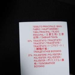 Marni Black Crepe Crystal Embellished Button Detail Pinafore Dress M