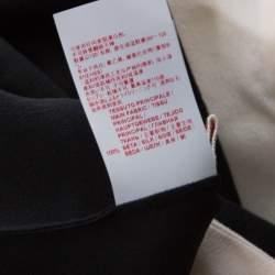 Marni Black Silk Crepe Contrast Collar Detail Short Dress M