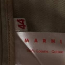 Marni Beige Cotton Raglan Sleeve Stand Collar Jacket M