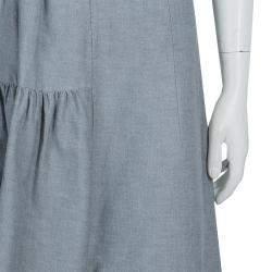 Marni Grey Gathered Cotton Skirt S