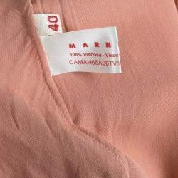 Marni Salmon Pink Twist Knot Neck Top S