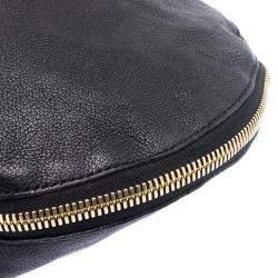 Marni Black Leather Expandable Hobo