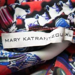 Mary Katrantzou Red Jewel Printed Silk Croft Tunic XS