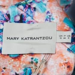 Mary Katrantzou Bejeweled Bow Print Silverfloss Ohara Cocktail Dress M
