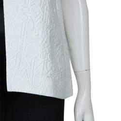 Mary Katrantzou White Textured Vest M