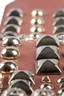 Matthew Williamson Brown Leather Studded Waist Belt 85CM