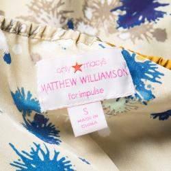 Matthew Williamson For Macy's Beige Printed Halter Neck Detail Romper S