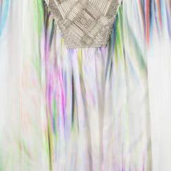 Matthew Williamson Multicolor Printed Embellished V-Neck Dress M