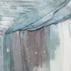 Matthew Williamson Printed Silk Draped Strapless Dress S