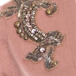 Matthew Williamson Caramel Brown Wool Cashmere Embellished Button Front Cardigan S