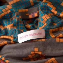Matthew Williamson Multicolor Block Printed Silk Jersey Dress M