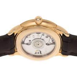 Maurice Lacroix Black 18K Yellow Gold Diamond Les Classiques Women's Wristwatch 30MM