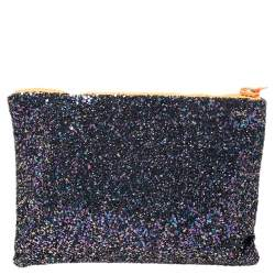 Mawi Multicolor Glitter with Acrylic Perspex Double Clutch