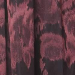 Max Mara Red Printed Silk Pleated Maxi Skirt M