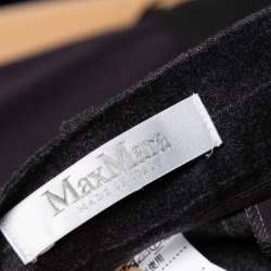 Max Mara Grey Striped Wool & Cashmere Belted Pant Suit XS
