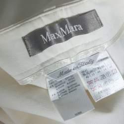 Max Mara  White Denim Wide Leg Pants L