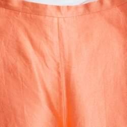 Max Mara Peach Silk High Waist Palazzo Pants S