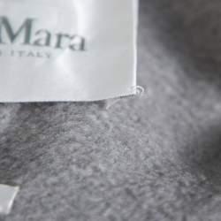 Max Mara Grey Cashmere Open Front Coat L