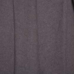 Max Mara Dark Grey Wool Open Front Coat L