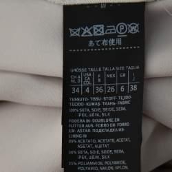 Max Mara Beige Silk Ruffle Detail Serafin Skirt S