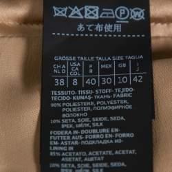 Max Mara Camel Brown Jacquard Ninfa fil coupé Maxi Skirt M