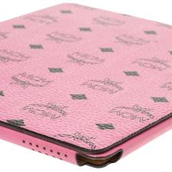 MCM Pink Visetos Leather Elda Ipad Case