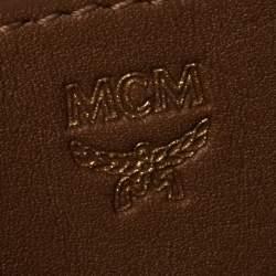 """حقيبة ظهر إم سي إم مرصعة """"ستارك"""" صغيرة كانفاس مقوى فيستوس بني"""