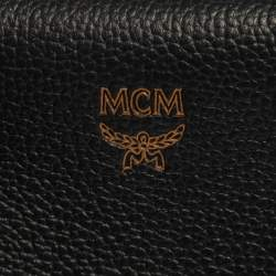 MCM Dark Grey Leather Medium Milla Tote