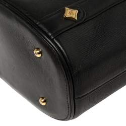 MCM Black Textured Leather Small Tote