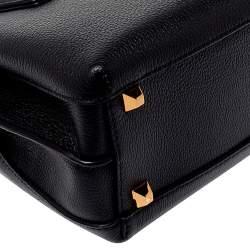 MCM Black Leather Mini Milla Tote